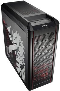 Lian Li PC-P50R red with side panel window