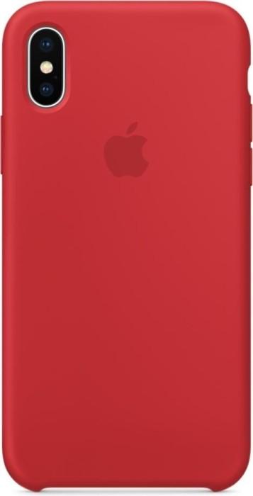 Apple Silikon Case für iPhone X rot (MQT52ZM/A)