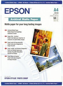 Epson S041342 Archival Matte Papier A4, 192g, 50 Blatt