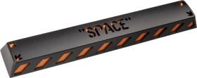 Zomoplus Aluminium Keycap SPACE, schwarz/orange (714216998579)