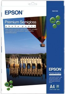 Epson S041332 premium photo paper semigloss, A4, 251g, 20 sheets