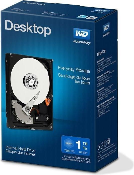 Western Digital WD desktop Everyday 1TB, SATA 6Gb/s, retail (WDBH2D0010HNC)