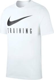 Nike Dri-FIT Shirt kurzarm weiß/schwarz (Herren) (BQ3677-100)