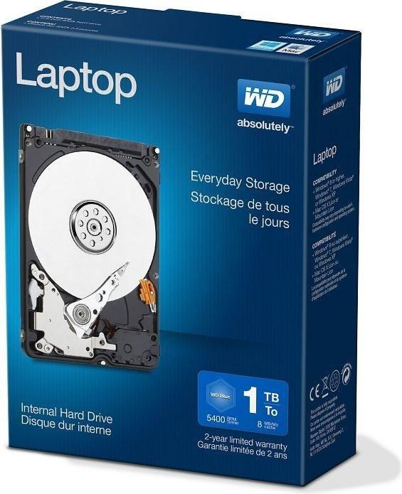 Western Digital WD Laptop Everyday 1TB, SATA 3Gb/s, retail (WDBMYH0010BNC)