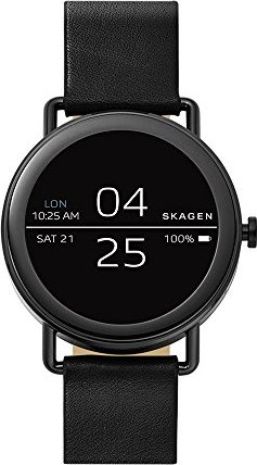 Skagen Connected Falster schwarz mit Lederarmband schwarz (SKT5001) -- via Amazon Partnerprogramm