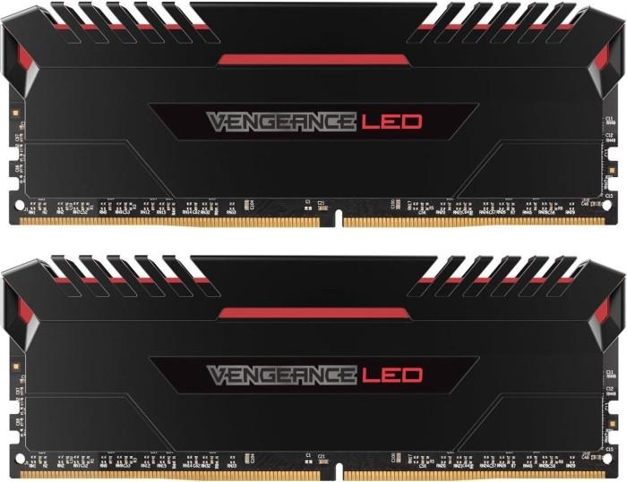 Corsair Vengeance LED rot DIMM Kit 32GB, DDR4-3200, CL16-19-19-36 (CMU32GX4M2D3200C16R)