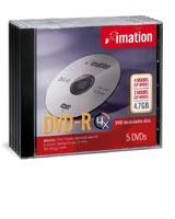 Imation DVD-RAM 4.7GB 3x, Jewelcase 5 sztuk (20163)