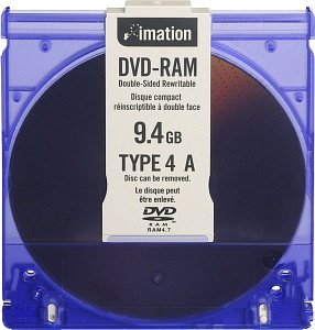 Imation DVD-RAM 9.4GB 3x, sztuk 5, Typ 4 Cartridge (21064)