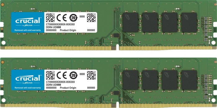 Crucial DIMM Kit 8GB, DDR4-3200, CL22 (CT2K4G4DFS632A)