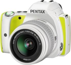 Pentax K-S1 weiß/gelb mit Objektiv DA L 18-55mm (06714)