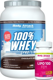 Body Attack 100% Whey Protein Natural 900g (4250350540954)