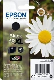 Epson Tinte 18 XL schwarz hohe Kapazität (C13T18114010)