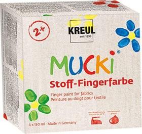 Kreul Mucki Stoff-Fingerfarbe Set 4 Stück 150ml (28400)