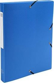 Exacompta Archivbox aus Kunststoff A4, blickdicht, 25mm, hellblau, 4er-Pack (59612E)