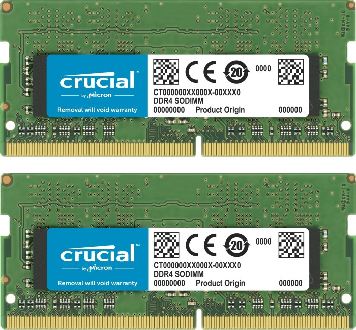 Crucial SO-DIMM Kit 16GB, DDR4-3200, CL22 (CT2K8G4SFS832A)