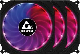 Chieftec CF-3012-RGB Tornado, 120mm, 3er-Pack, LED-Steuerung