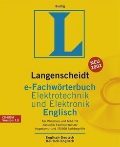 Langenscheidt e-specialist dictionary electrical engineering and electronics - English (German) (PC) (LA17203)