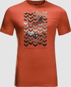 Jack Wolfskin Chevron Shirt kurzarm saffron orange (Herren) (1806991-3034)