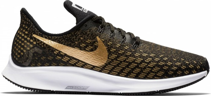 Nike Air Zoom Pegasus 35 black/wheat gold/metallic silver/metallic platinum (Damen) (942855-007) ab € 79,99