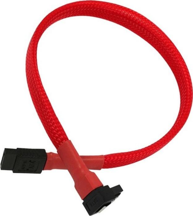 Nanoxia SATA 6Gb/s Kabel schwarz-rot 0.60m gewinkelt mit Arretierung (NXS6G60SR)