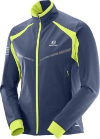 Salomon RS warm Softshell Jacket dress blue/acid lime (men) (397077)