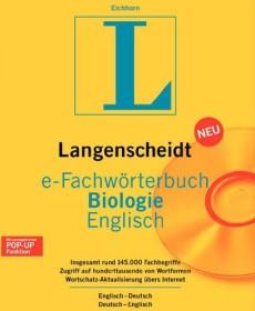 Langenscheidt e-Fachwörterbuch Biologie - Englisch (deutsch) (PC) (LA17229)