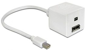 DeLOCK Mini DisplayPort/DisplayPort & Mini DisplayPort Adapterkabel weiß (61752)