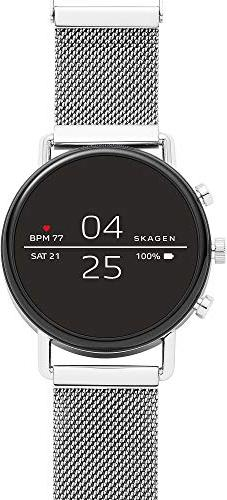 Skagen Connected Falster 2 silber mit Milanaise-Armband silber (SKT5102) -- via Amazon Partnerprogramm