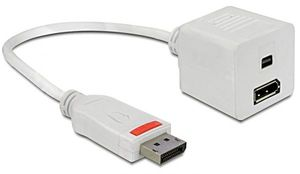 DeLOCK DisplayPort/DisplayPort & Mini DisplayPort Adapterkabel weiß (61751)
