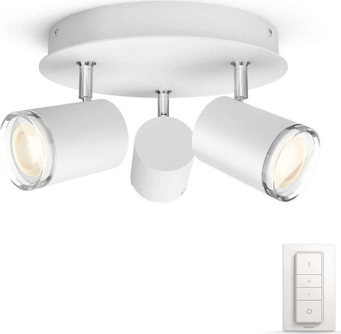 Philips Hue White Ambiance Adore Spot 3-flammig rund weiß (34362/31/P7)