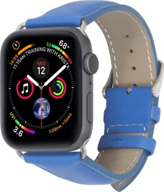 Stilgut Lederarmband für Apple Watch 42mm/44mm blau (B07MX85YJJ)