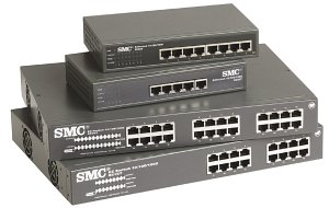 SMC EZ Switch 10/100/1000, 24-Port unmanaged (8524T)