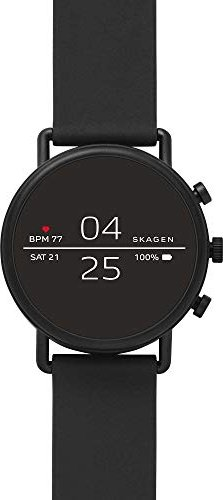 Skagen Connected Falster 2 schwarz mit Silikonarmband schwarz (SKT5100) -- via Amazon Partnerprogramm