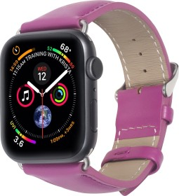 Stilgut Lederarmband für Apple Watch 42mm/44mm lila (B07MX8JQNN)