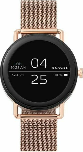 Skagen Connected Falster schwarz mit Milanaise-Armband rosegold (SKT5002) -- via Amazon Partnerprogramm