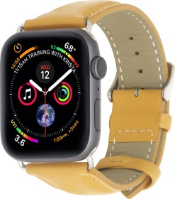 Stilgut Lederarmband für Apple Watch 42mm/44mm senfgelb (B07MXBBT35)