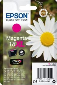 Epson Tinte 18 XL magenta hohe Kapazität (C13T18134010)