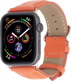 Stilgut Lederarmband für Apple Watch 42mm/44mm orange (B07MX7ZFV7)