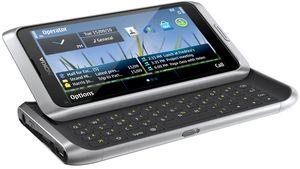 Nokia E7-00 white silver