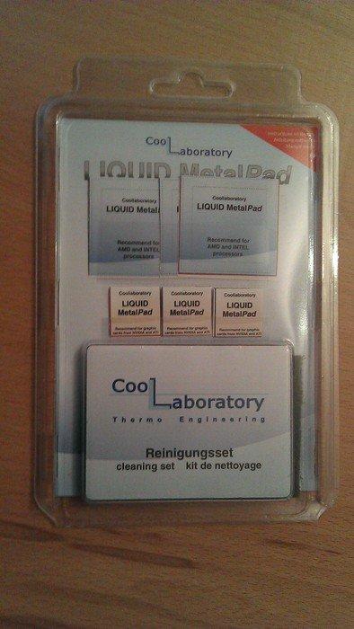 Coollaboratory Liquid MetalPad, 3x CPU + 3x GPU + Reinigungsset -- © bepixelung.org