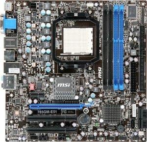 MSI 785GM-E51, 785G (7596-050R)