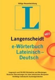 Langenscheidt e-Wörterbuch Lateinisch/Deutsch (deutsch) (PC) (LA90863)