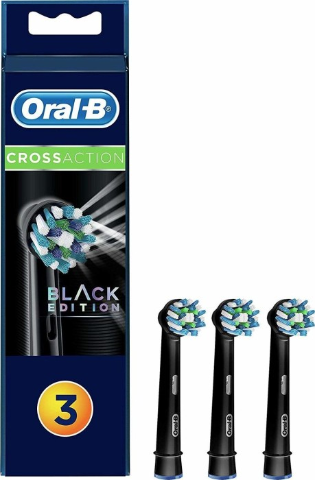 Oral-B brush heads CrossAction Black Edition, 3-pack