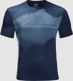 Jack Wolfskin Peak Graphic Shirt kurzarm dark indigo (Herren) (1807181-1024)