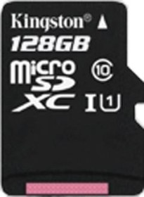 Kingston microSDXC 128GB, UHS-I, Class 10 (SDCX10/128GBSP)