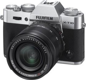 Fujifilm X-T10 silber mit Objektiv XF 18-55mm 2.8-4.0 R LM OIS