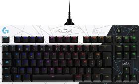 Logitech G Pro Gaming Keyboard, TKL, GX-BROWN, K/DA Edition black/white, USB, FR (920-010099)