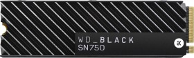 Western Digital WD Black SN750 NVMe SSD 500GB, M.2, Kühlkörper (WDS500G3XHC-00SJG0/WDBGMP5000ANC-WRSN)