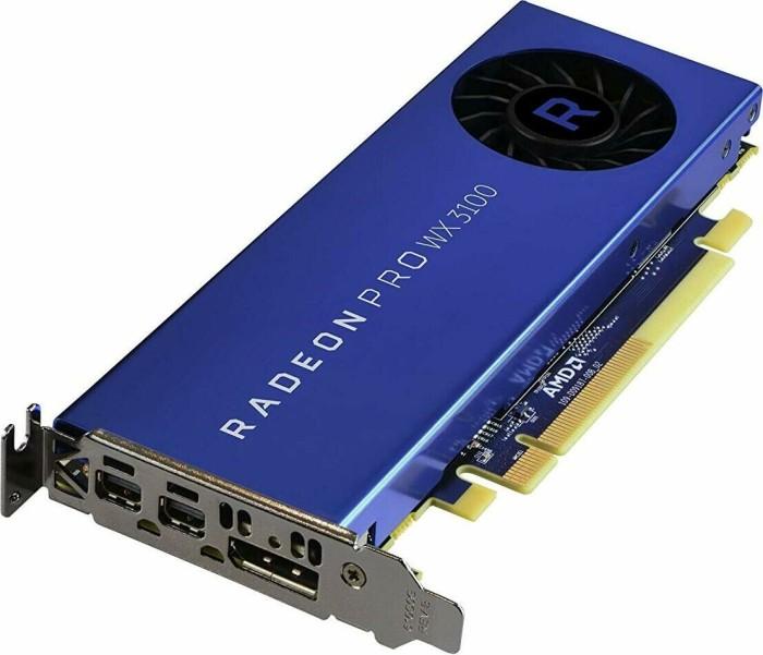 AMD Radeon Pro WX 3100, 4GB GDDR5, DP, 2x mDP (100-505999)