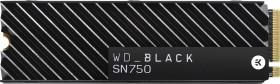 Western Digital WD Black SN750 NVMe SSD 2TB, M.2, Kühlkörper (WDS200T3XHC-00SJG0/WDBGMP0020BNC-WRSN)